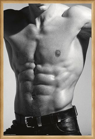 Framed Framed Tantalising Torso - Buff in Black and White
