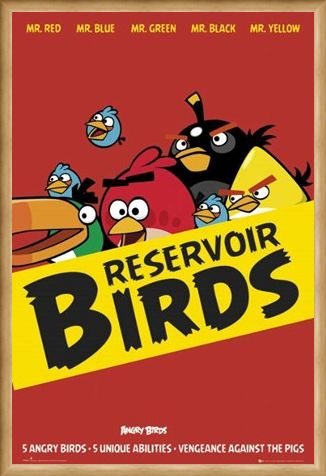 Framed Framed Reservoir Birds - Angry Birds