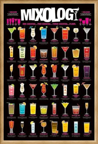 Framed Framed One Cocktail...Two Cocktail...Three Cocktail...Floor! - Mixology
