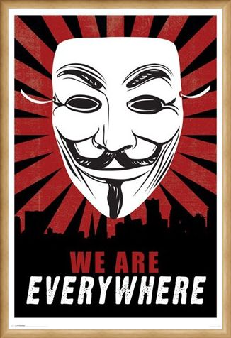 Framed Framed We Are Everywhere - V for Vendetta