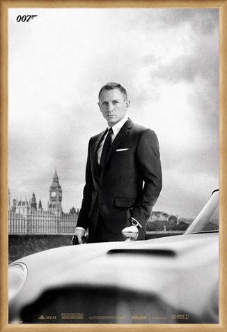 Framed Framed Smooth, Suave & Sophisticated - Daniel Craig is James Bond
