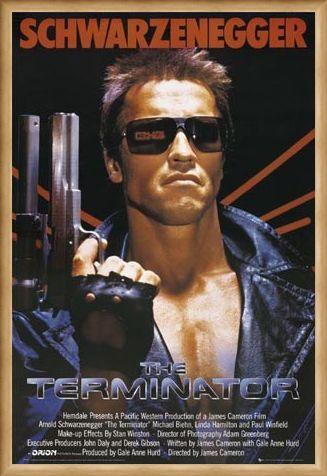 Framed Arnold Schwarzenegger Is The Terminator