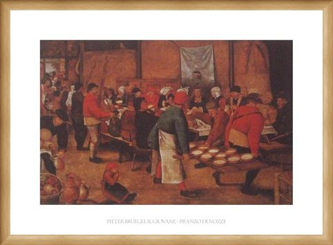Framed Framed The Peasant Wedding - Pieter Bruegel