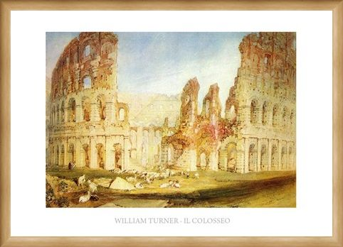 Framed Framed The Colosseum - William Turner