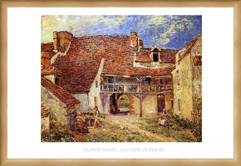 Framed Framed The Farmyard - Alfred Sisley