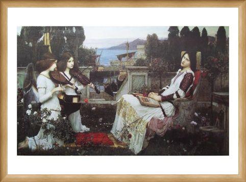 Framed Framed Saint Cecilia - John W Waterhouse