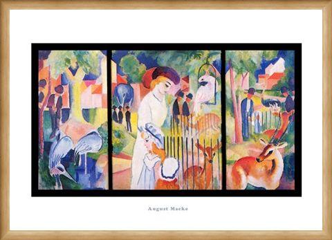 Framed Framed Zoological Garden 1912 - August Macke