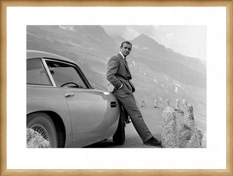 Framed Framed Bond and his Aston - Sean Connery is 007