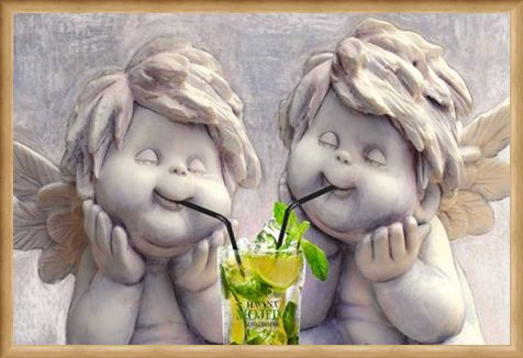Framed Framed Angelic Mojito Drinkers - Stone Cold Sober