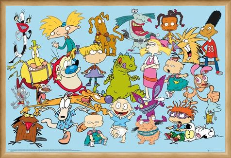 Framed Framed Cartoon Favourites - Nickelodeon Characters