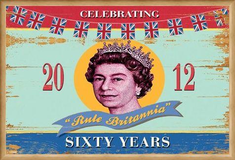Framed Framed Rule Britannia - Martin Wiscombe