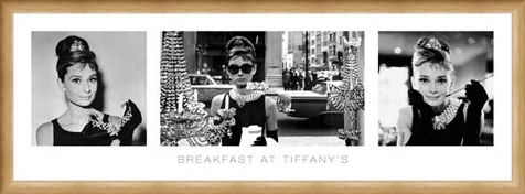 Framed Framed Breakfast At Tiffany's Tryptich - Audrey Hepburn