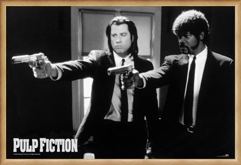 Framed Framed Vincent Vega and Jules Winnfield - Pulp Fiction