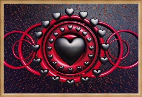 Framed Framed Heart of Gothic - Trevor Scobie