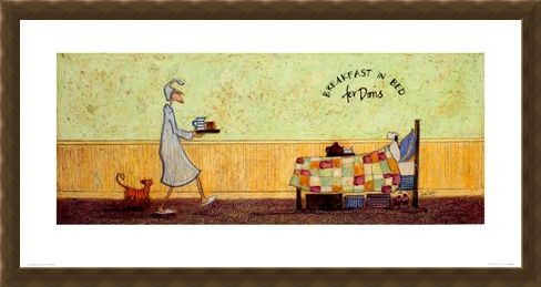 Framed Framed Breakfast In Bed For Doris - Sam Toft