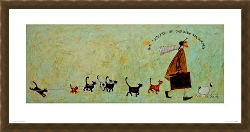 Framed Framed The Suitcase Of Sardine Sandwiches - Sam Toft