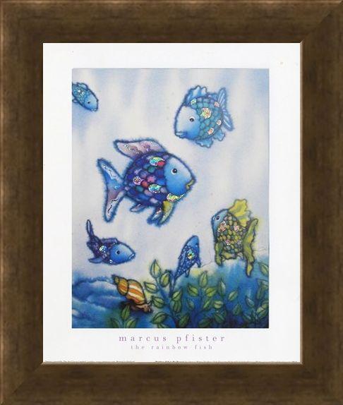 Framed Framed Rainbow Fish and Friends - Marcus Pfister