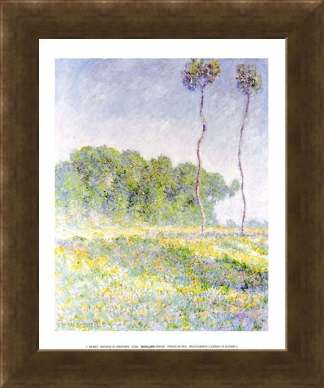 Framed Framed Paysage de Printemps - Claude Monet