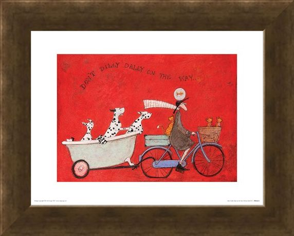 Framed Framed Don't Dilly Dally on the Way - Sam Toft