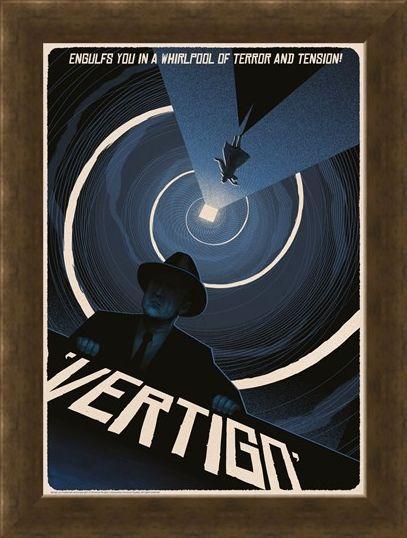Framed Framed Vertigo - Alfred Hitchcock