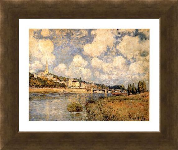 Framed Framed Sainte Cloud - Alfred Sisley