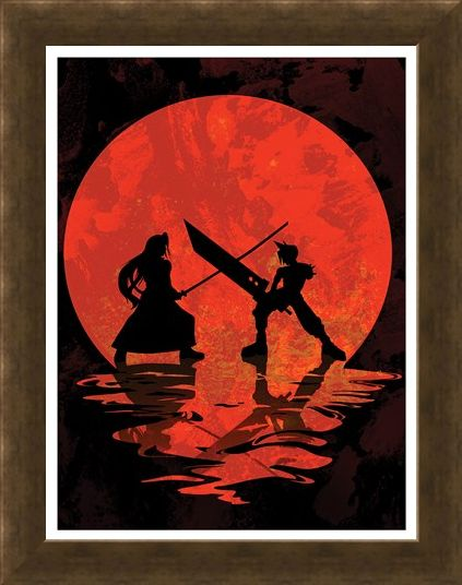 Framed Framed Cloud vs Sephiroth Mini Poster -