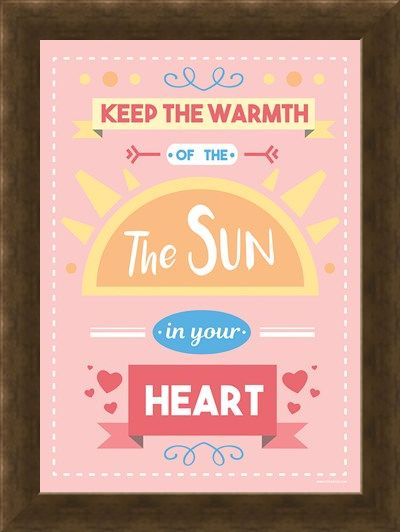Framed Framed Keep The Warmth Of The Sun In Your Heart - Motivational