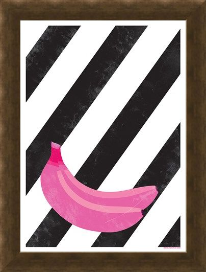 Framed Framed Banana Bunch - Pop Art Plantain
