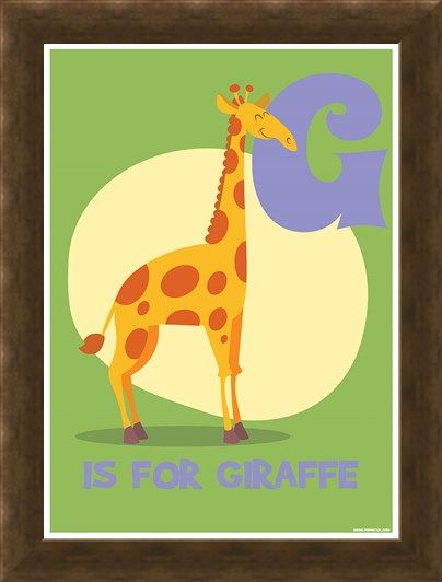 Framed Framed G...is for Giraffe - Animal Education