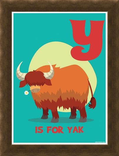Framed Framed Y...Is For Yak! - Alphabet Art