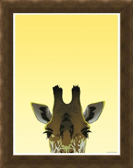 Framed Framed Peaking Giraffe - Inquisitive Creatures