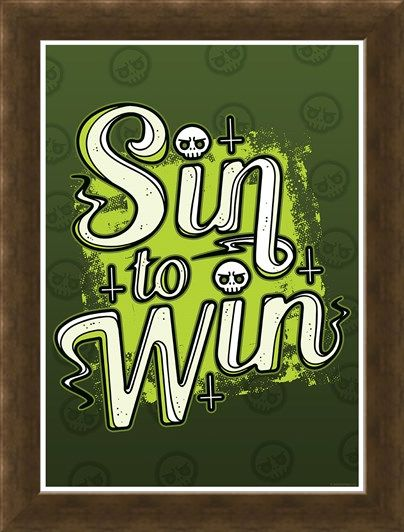 Framed Framed Sin To Win - Quirky