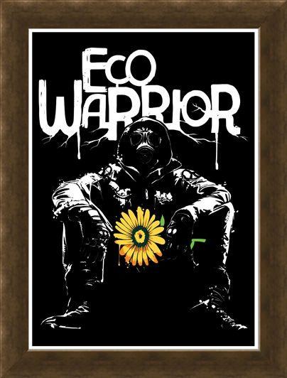 Framed Framed Eco Warrior - Extinction Rebellion