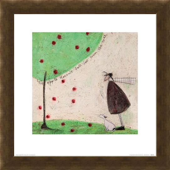 Framed Framed The Apple Doesn't Fall Far From The Tree - Sam Toft