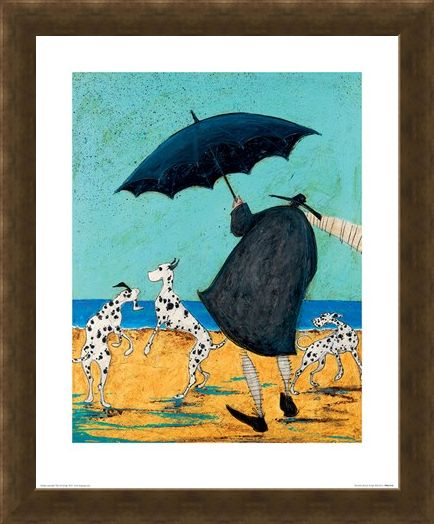 Framed Framed On Jack's Beach - Sam Toft