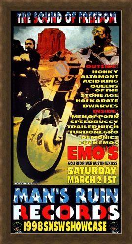 Framed Framed Man's Ruin Records 1998 SXSW Showcase - Frank Kozik