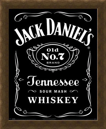 Framed Framed Classic Logo - Jack Daniels