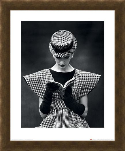 Framed Framed Wide Shoulder Fashion 1959 - Time Life