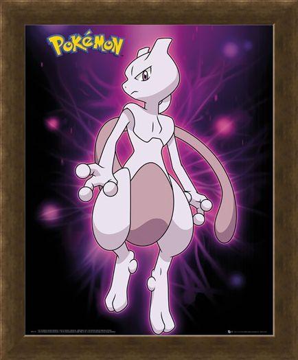 Framed Framed Mewtwo Neon - Pokemon
