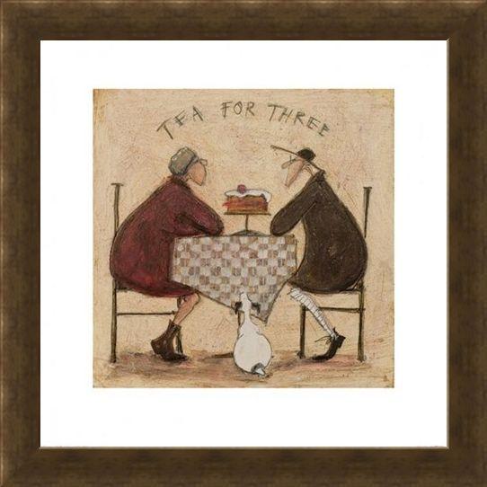 Framed Framed Tea for Three - Sam Toft