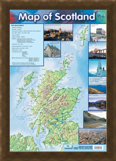 Framed Framed Map Of Scotland - Travel Companion