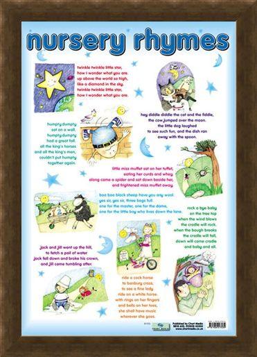 Framed Framed Nursery Rhymes - Traditional Nursey Rhymes for Children