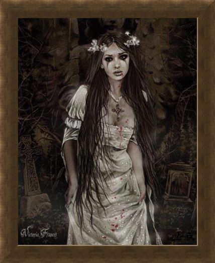 Framed Framed Anatheme The Vampire - Victoria Frances