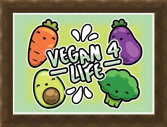 Framed Framed Fruits & Roots! - Vegan 4 Life