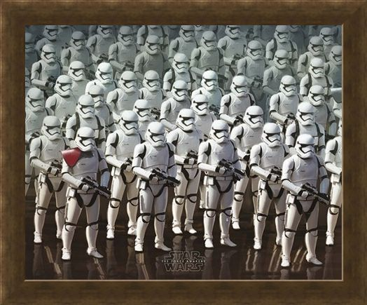 Framed Framed Stormtrooper Elite Army - Star Wars Episode VII