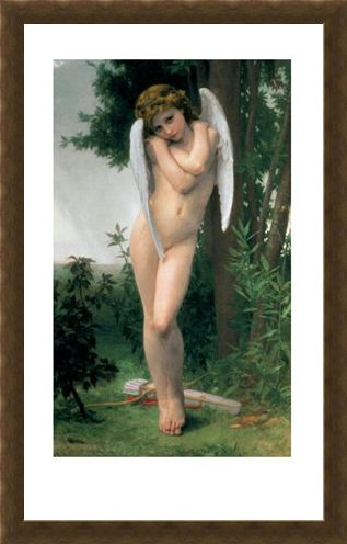 Framed Framed Cupidon - William Bougereau