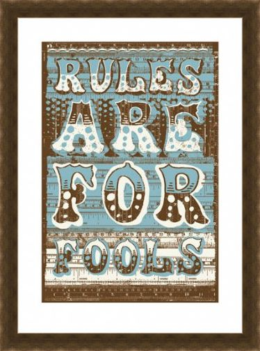 Framed Framed Rules Are For Fools - James Brown