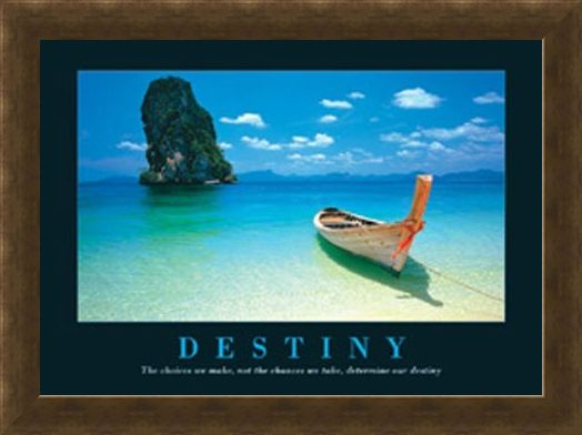Framed Framed Canoe on the Shore - Destiny, Aspirational