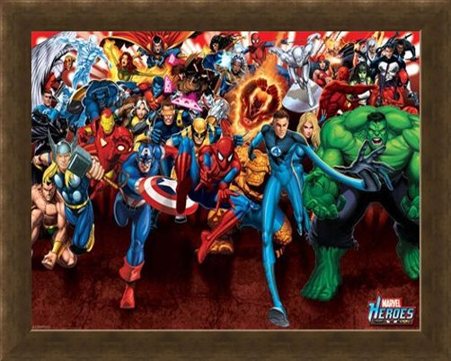 Framed Framed Here To Save The Day - Marvel Heroes