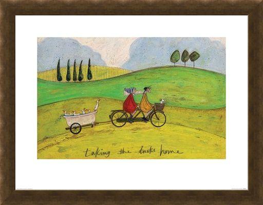Framed Framed Taking the Ducks Home - Sam Toft